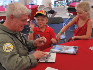 Lt. Col. Art Nalls with some fans
