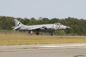 Art Nalls and his sea harrier taxis September 2007 at St Mary's County airport. California, MD