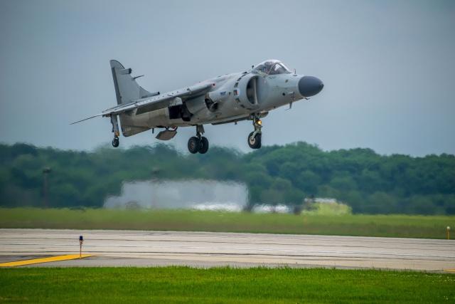 Art Nalls hovering the Sea Harrier at Rockford, Illinois June 2015