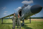 Monica and Jenna with the Sea Harrier